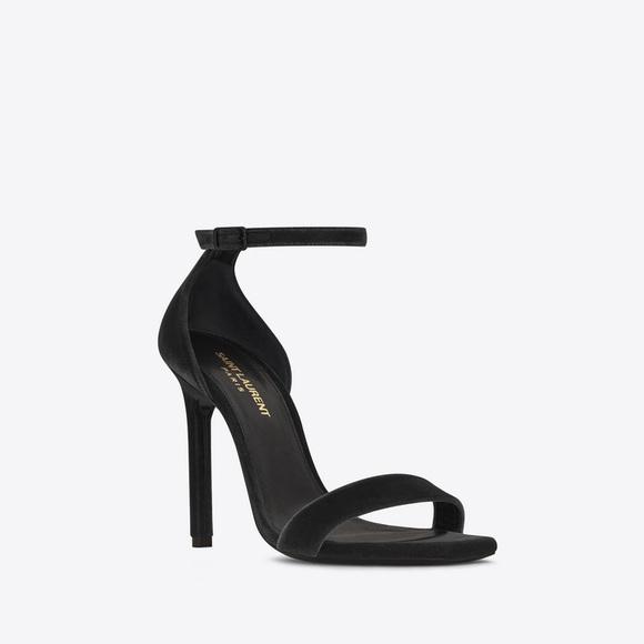 d6e0e3fe0d YSL amber 105 black velvet heels